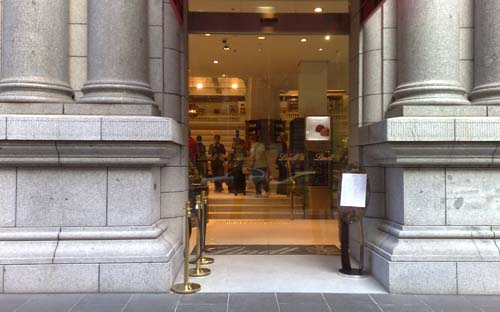 Entrance of Lindts Cafe