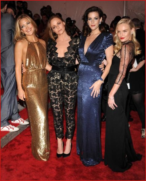 Kate Hudson, Stella McCartney, Liv Taylor and Kate Bosworth all in her Spring 2010 collection.