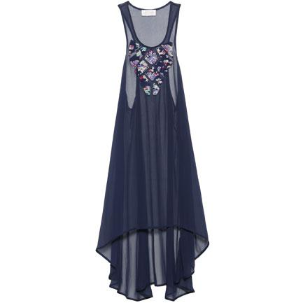 Zimmermann lola applique dress in midnight $375