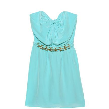 Zimmermann lola knot strapless dress in glacier $350