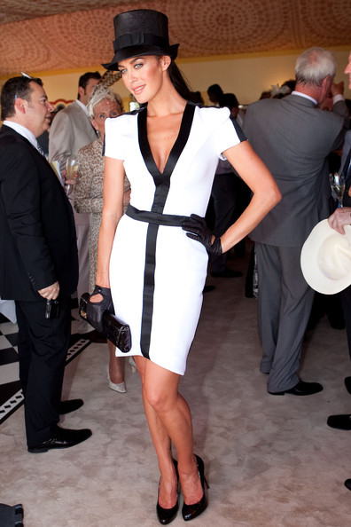 Megan Gale at Derby Day